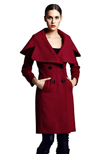 Escalier Damen Mantel Rot Rot