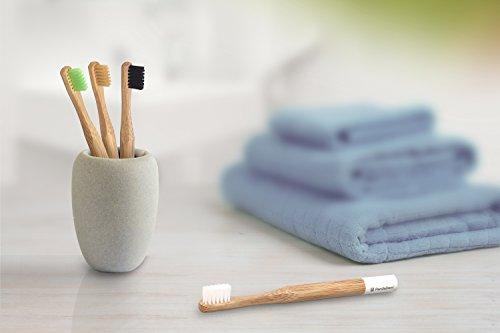 Weiche Bambus-Zahnbürste für Kinder | 4er Pack GRÜN | Für eine schönere und bessere Welt! - 4