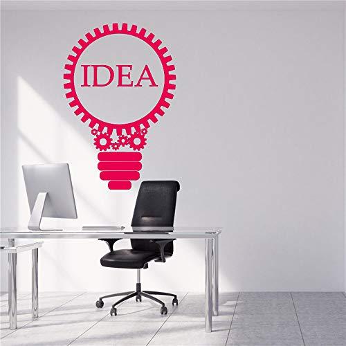 guijiumai Vinile Adesivo Idea Lampada Lampada Creativa Decorazione per Ufficio Adesivi Adesivi murali viventi Decorazioni per la casa Adesivo murale 2 58 X 40 CM