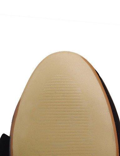 ShangYi gyht Scarpe Donna-Mocassini-Casual-Comoda / Punta arrotondata-Basso-Finta pelle-Nero / Blu / Bianco Black