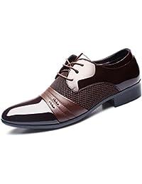 HYLM Los zapatos de los hombres de negocios del cordón de zapatos de boda zapatos de vestir de los hombres grandes , brown , 42