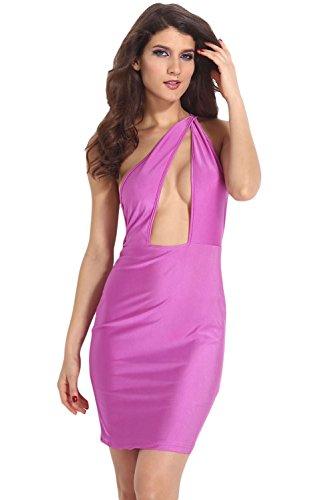 E-Girl Deman Violett SY21074 cocktail kleid Violett