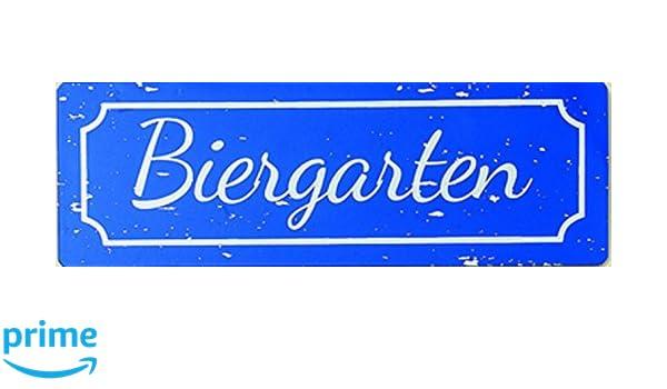 Boltze Metall Schild Gartenschild Oktoberfest Eisen lackiert 30cm Biergarten