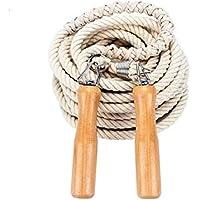 LridSu Cuerda de Saltar de la Cuerda de Saltar de la Cuerda de la manija de Madera de la Cuerda para el Entrenamiento del Boxeo y el Ejercicio de Cardio