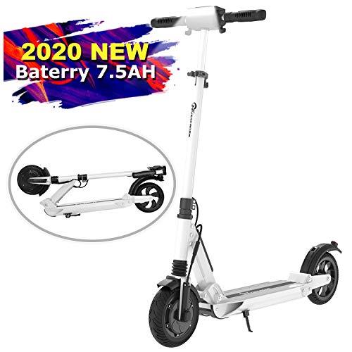MARKBOARD E-Scooter Klappbar Elektroscooter Erwachsene Bis 30 km/h E Roller Mit Vorderen und Hinteren Rückleuchten | 7.5Ah Akku | 350 Watt Motor City Roller (weiß)