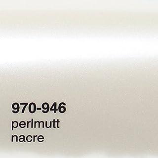 Oracal 970RA 946 Perlmutt weiß Metallic Glanz gegossene Profi Autofolie 152cm breit BLASENFREI mit Luftkanäle