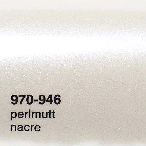 18,22€/m² Oracal 970RA 946 Perlmutt weiß Metallic Glanz gegossene Profi Autofolie 152cm breit BLASENFREI mit Luftkanäle