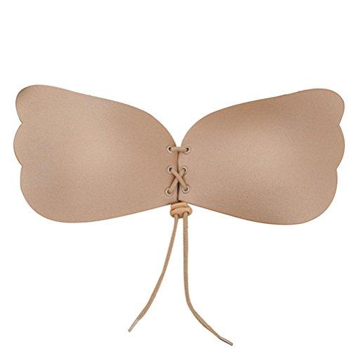 FeiXIANG-Sexy-reggiseno-da-donna-push-up-invisibile-autoadesivo-senza-spalline-in-silicone-stile-schiena-nuda-riutilizzabile-D-Khaki