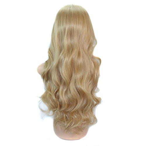 cke, Full Head Lange Curly Wave Haar Straight Perücke Haar Stücke Bobed Perücke für Frauen (Langes lockiges Perücke-Gold (70cm)) (Mädchen Rapunzel Perücke)