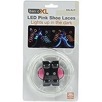 Coppia lacci LED luminosi colore rosa pink stringhe LED per scarpe borse zaini