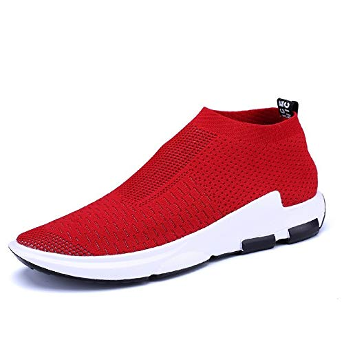 mesh Lightweight Comfortable Men Fly Weave Casual Shoes Large Size Hombre Sapatos 896-Red 12 ()