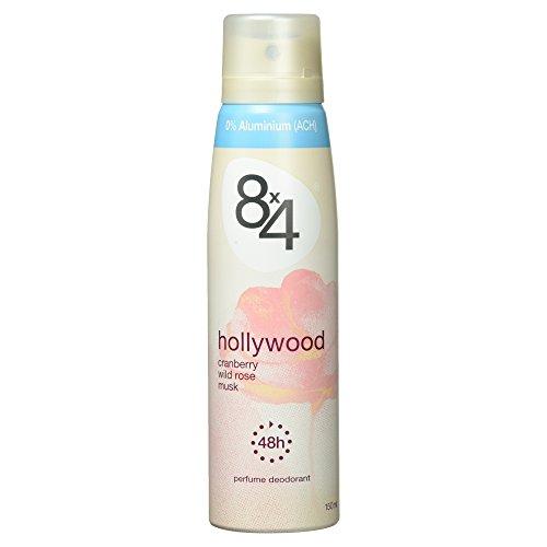 8x4 Hollywood Deo Spray Cranberry, Wildrose und Mochus, 150 ml