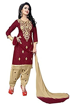 Crazy Women's Party Wear Pure Cotton Patiala Salwar Suits for women semi stitched