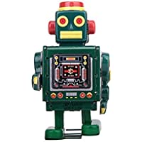 Veroda Green Wind Up Robot With Key Mechanical Clockwork Kids Toy Collectibles