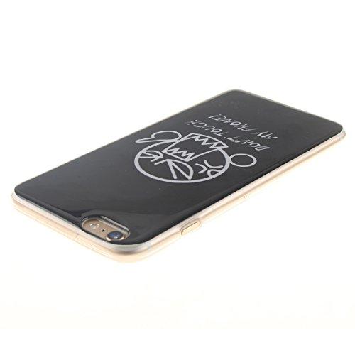 """iPhone 6S Etui, Coque Case de Protection pour Apple iPhone 6 6S 4.7"""" Anti Choc, Très Mince Poids Léger TPU Joli Coloré Peinture Motif Serie - Totem Fleur Noir-1"""
