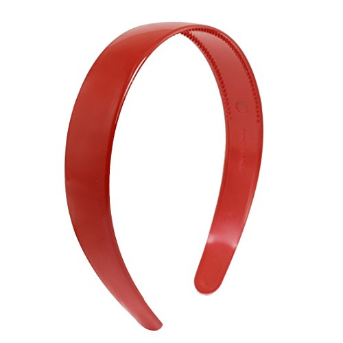 Sourcingmap Kunststoff gezahnt Damen Haar Hoop Haarband Ornament, Rot