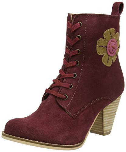 Joe Browns Damen Quirky and Cute Suede Boots Reitstiefel, Rot (Weinrot), 40 EU (Cute Heels)