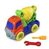 Montage Auto Spielzeug Set Betonmisch-LKW Kunststoff Spielzeugauto Schraubenspiel Wagen für Kinder ab 3 Jahre Alt für DIY