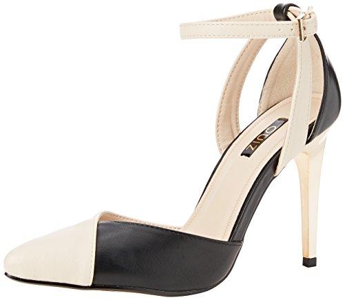 Quiz Damen Ankle Strap Pointed Court Knöchel-Riemchen Multicolour (Black/Nude)