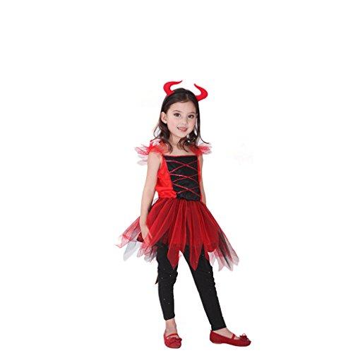Masterein Halloween Kind M?dchen Erwachsene Frauen M?nner Rot Hexe B?se Kost¨¹m Party Cosplay Kost¨¹m Familie (Für Halloween Männer Customes)