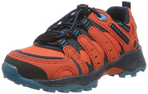 Lico Fremont, Zapatillas de Senderismo Unisex niños, Orange/Marine/Petrol, 32 EU