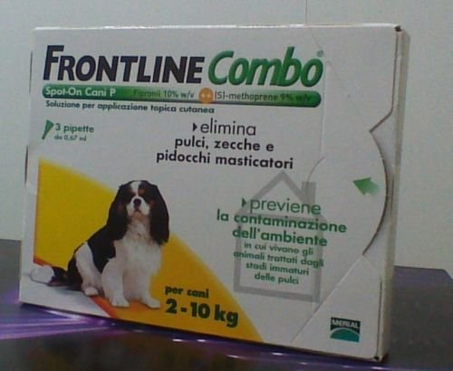 FRONTLINE COMBO CANE ANTIPARASSITARIO ANTIPULCI 3 PIPETTE