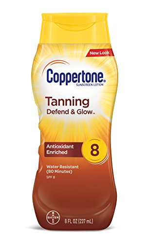 Coppertone Tanning Lotion, Non-greasy, Light Formula, SPF 8, 8-Fluid Ounce) by Coppertone -