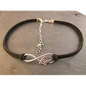 Choker Halskette Kette Kropfband Halsband Unendlichkeit Hope enganliegend Handmade