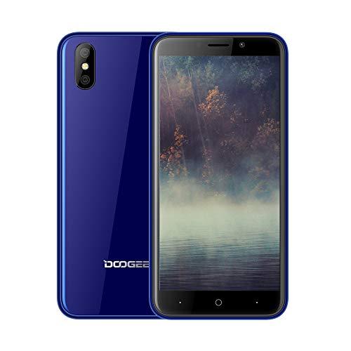 DOOGEE X50 Smartphone ohne Vertrag, Handy Dual SIM 5,0 Zoll HD Display, 3G Netzwerk Phone Portable, Android Go Mobile, Telephone mit MT6580M Quad-Core, 1 GB RAM + 8 GB ROM, 5.0MP + 0.3MP Kameras, 2000mAh Akku, GPS, Bluetooth, Dual SIM, WiFi, Smartphone entsperrt Günstige bei weniger als 100 Euro, - Blau