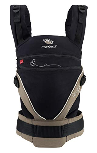 manduca XT Portabebe > Limited Edition Butterfly Black < Mochila Ergonomica Portabebe, Asiento Ajustable, 3 Posiciones, Algodón Orgánico, se Adapta a Recién Nacidos y Niños Pequeños (3,5-20kg)