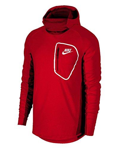 Nike Sportswear Advance 15Hoodie Fleece PO Felpa con cappuccio University Red/Unive