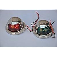 12V LED de metal Starboard SS & puerto Barco Luz 1par