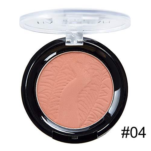 Ritioner Compact Blush, Makeup Cheek Blush Puder Foundation 4 Farbe Matte Rouge Palette langlebige wasserdichte Frauen Natürliche Erhellen Gesicht Make-Up Blushers (Make-up Blush-palette Unter $5)