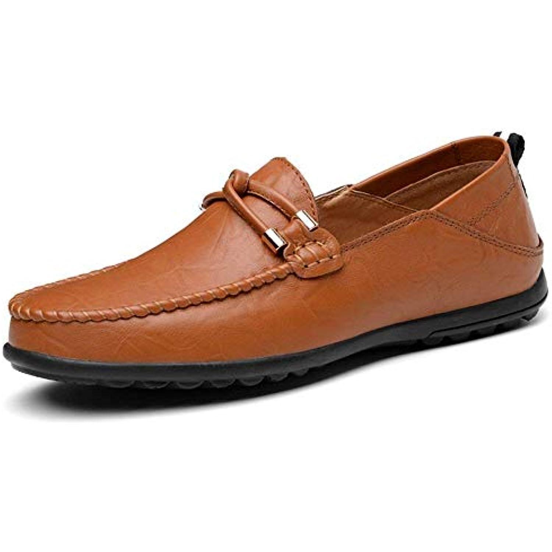 FuweiEncore Chaussures Mocassins pour Hommes, Mocassins pour et Homme en Cuir, de Couleur Unie et pour glissées sur des... - B07KK6Z2TC - b59d54