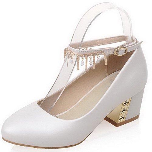 Souple Femme À Légeres Voguezone009 Chaussures Correct Blanc Talon tvtBSw