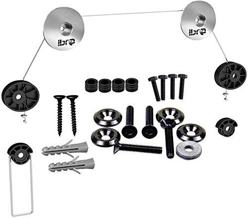 IBRA - Soporte ultra delgado de pared para monitor/TV/LED de 32