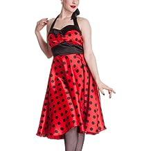 Hell Bunny - Vera - Vestido de fiesta/gala - Estilo años 50 - Rojo