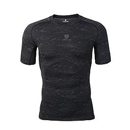 traspirante sci iCKER Maglietta a maniche lunghe da uomo e ragazzo per ciclismo a compressione corsa ad asciugatura rapida escursionismo leggera