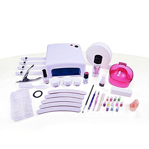 Ocibel Gel UV Monophase Cap Etudiant/Démarrage Kit de Manucure Faux Ongles 36 W Taille L