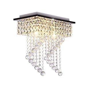 Sale Dellemade 2 Leuchtet Kristall Kronleuchter Modern Deckenleuchte Für  Treppenhaus, Bar, Küche, Esszimmer