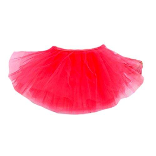 Drei Schichten Garn Tanz-Rock-Kind Schwanensee Kostüme Ballett-Kleid-Rot (Kinder Schwanensee Kostüm)