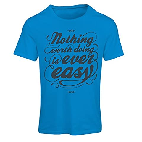 T shirts for women Motivational Life quotes in a shirt - Vintage Inspirational Funny sayings (Small Blue Multi Color)