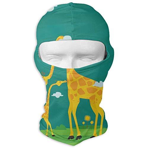 Jxrodekz Cartoon Giraffe Balaclava Motorcycle Full Face Mask UV Protection Multicolor Multicolor Tuff-dome