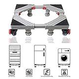 Allesin Waschmaschine Roller Trolley einstellbare Multifunktionsbeweglicher Für Trockner, Kühl Verstellbarer Sockel mit 4x2 drehbaren Gummi-Rädern und 4 stabilen Füßen