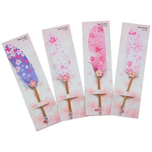 Naty Estilo coreano Pluma gel Colorida niñas Pluma