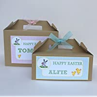 Personalised Childrens Easter Egg Gift Box Happy Easter Egg Hunt Party Treat Box