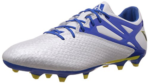 adidas Messi 15.2 Firm Artificial Ground, Chaussures de football homme Blanc - Weiß (Ftwr White/Prime Blue S12/Core Black)
