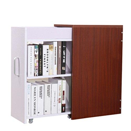 JX&BOOS Bücherregal,Schublade bookrack Bücherregale Schrank Bücherregal-F 45x70x28cm(18x28x11) (Stahl Schrank Nussbaum)
