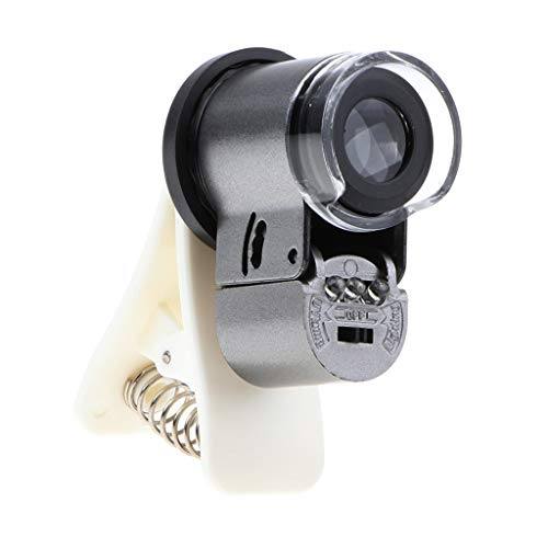 F Fityle Universal 65X Clip-on Tele Teleskop Kamera Handy Vergrößung Objektiv Mini Clip UV LED...