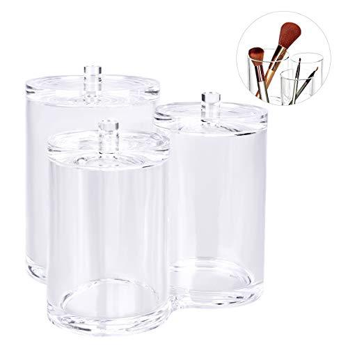 OZUAR watte Pad dispensador Kosmetex, Soporte para Discos de algodón y bastoncillos, Maquillaje Organizador de acrílico, Caja